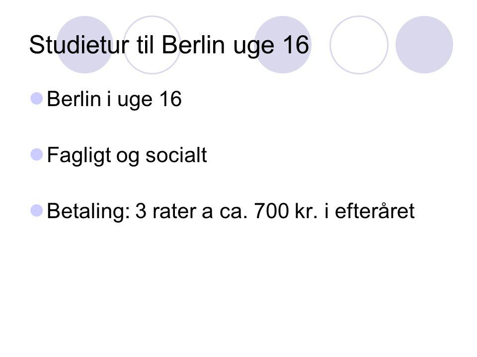 Studietur til Berlin uge 16