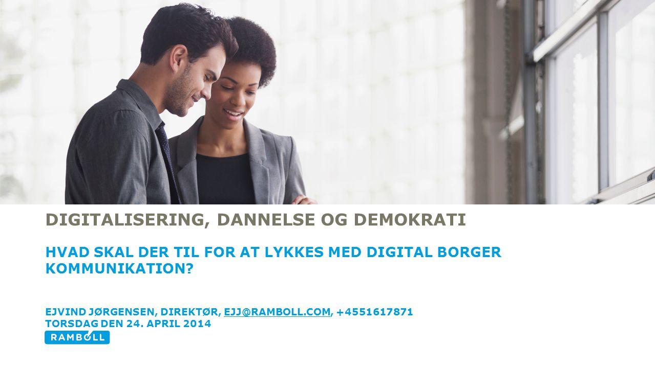 Digitalisering, dannelse og demokrati