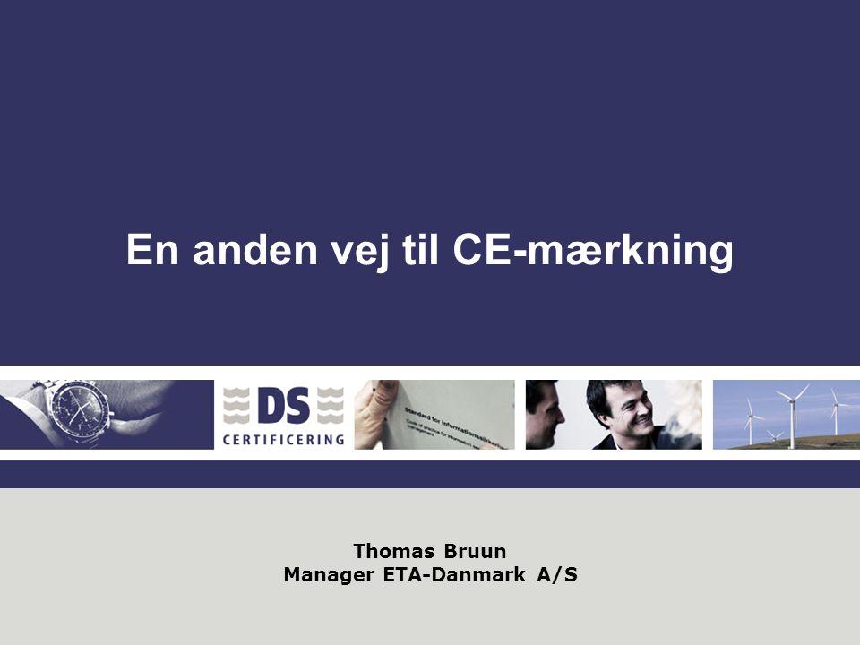 Thomas Bruun Manager ETA-Danmark A/S