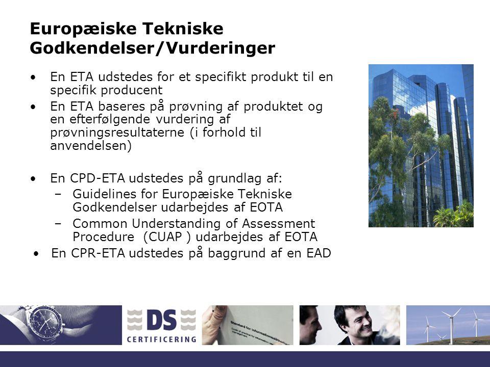 Europæiske Tekniske Godkendelser/Vurderinger