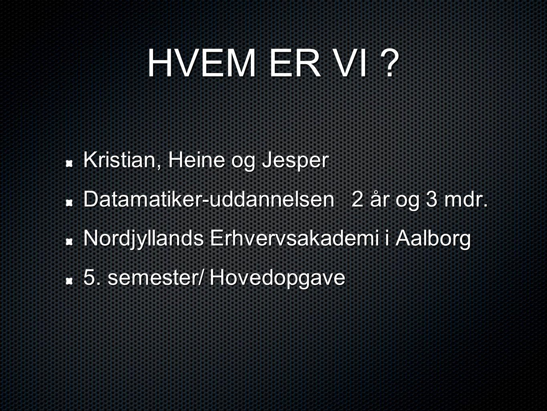 HVEM ER VI Kristian, Heine og Jesper