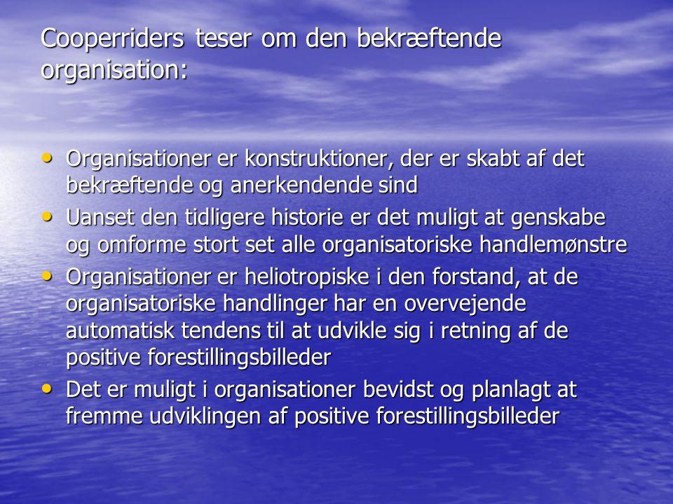 Cooperriders teser om den bekræftende organisation:
