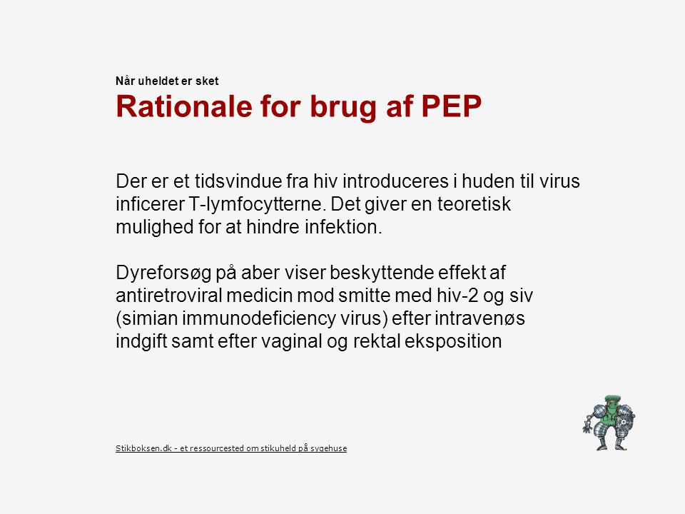 Rationale for brug af PEP