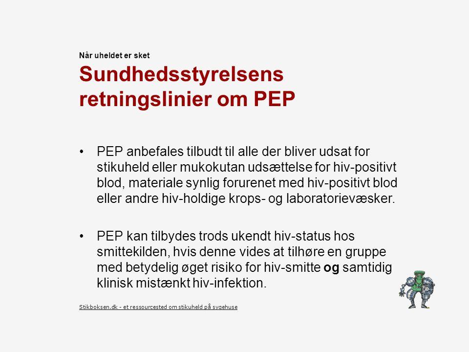 Sundhedsstyrelsens retningslinier om PEP
