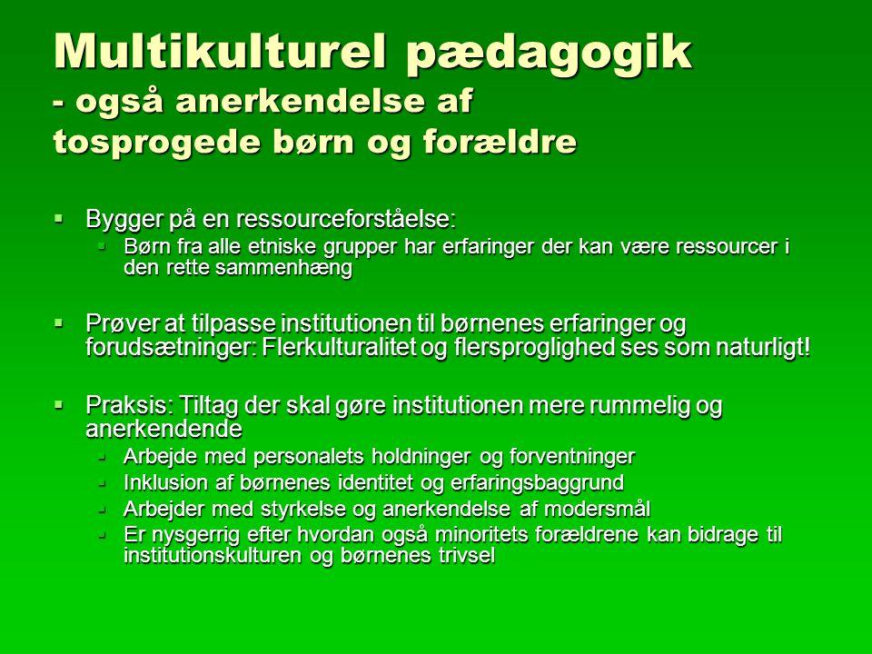 Multikulturel pædagogik - også anerkendelse af tosprogede børn og forældre