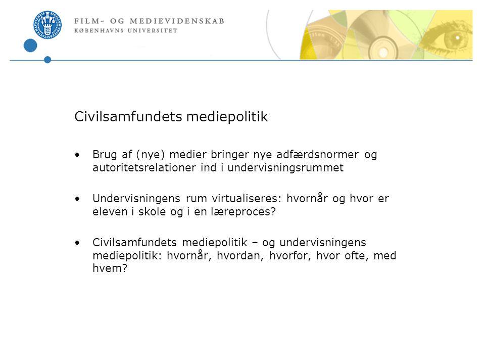 Civilsamfundets mediepolitik