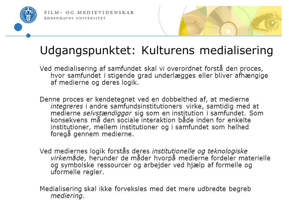 Udgangspunktet: Kulturens medialisering