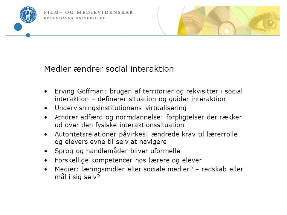 Medier ændrer social interaktion
