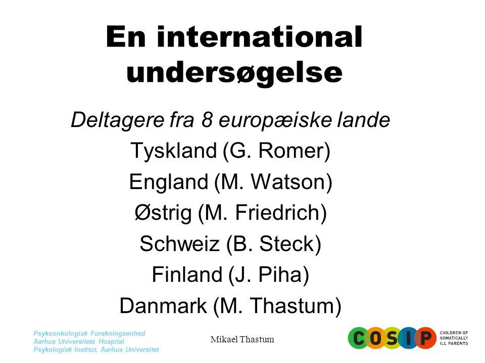 En international undersøgelse