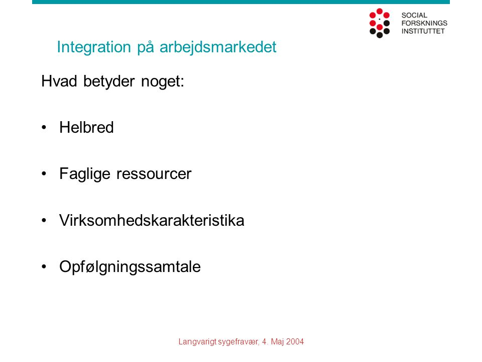 Integration på arbejdsmarkedet