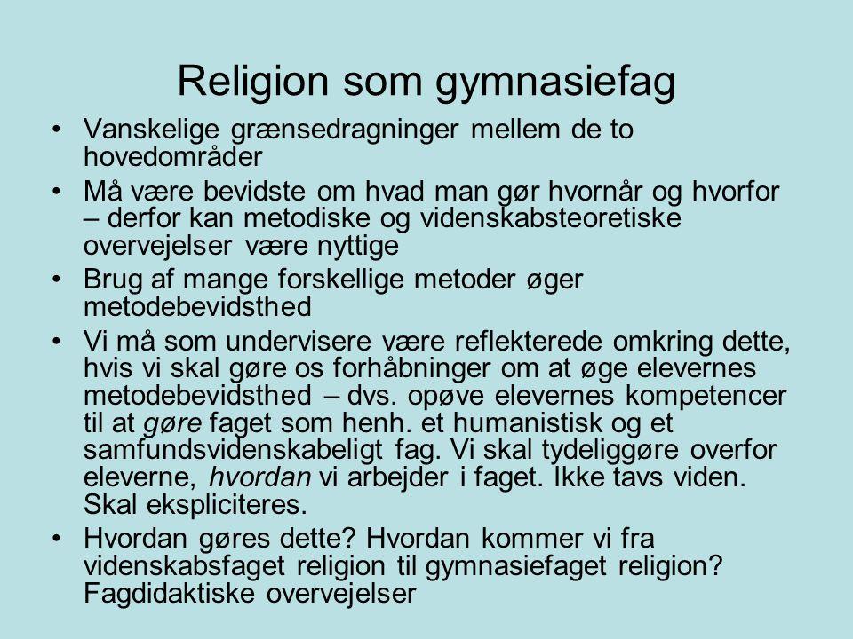 Religion som gymnasiefag