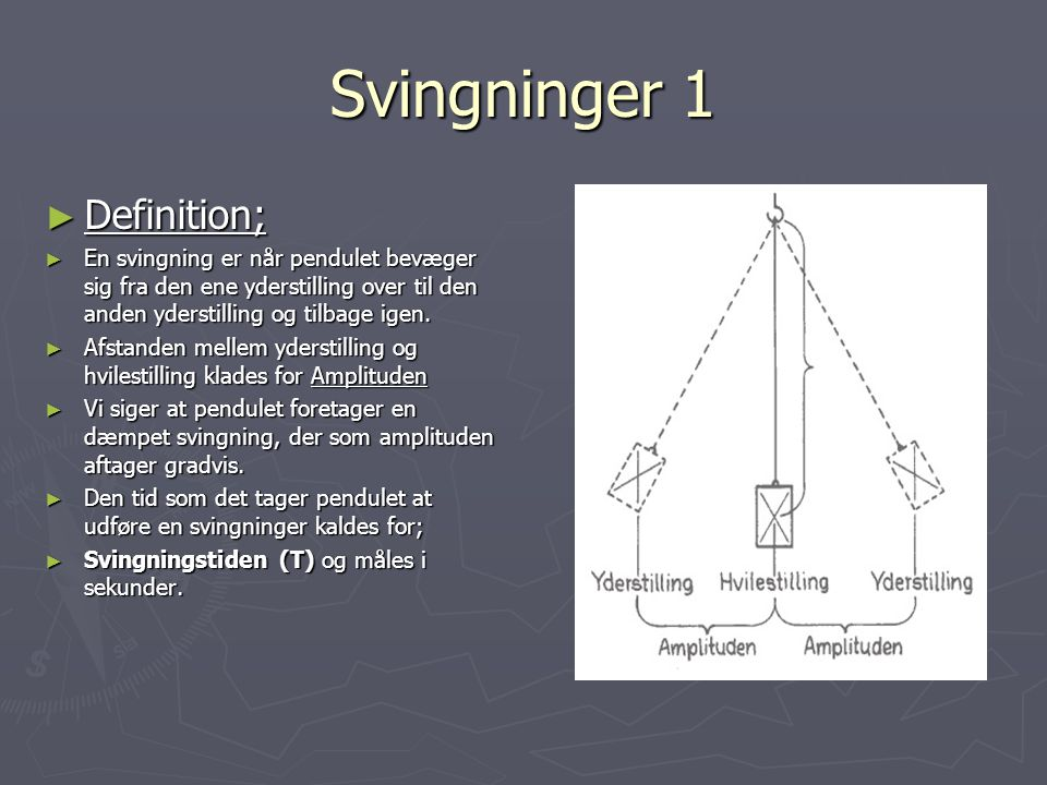 Svingninger 1 Definition;