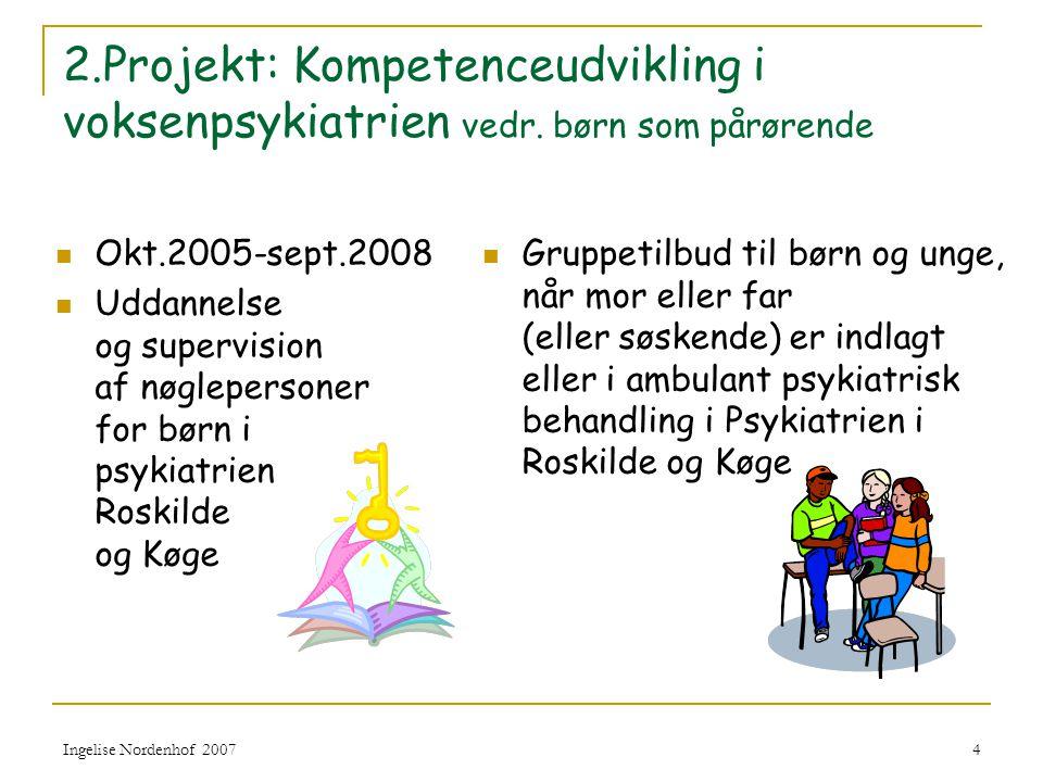 2. Projekt: Kompetenceudvikling i voksenpsykiatrien vedr