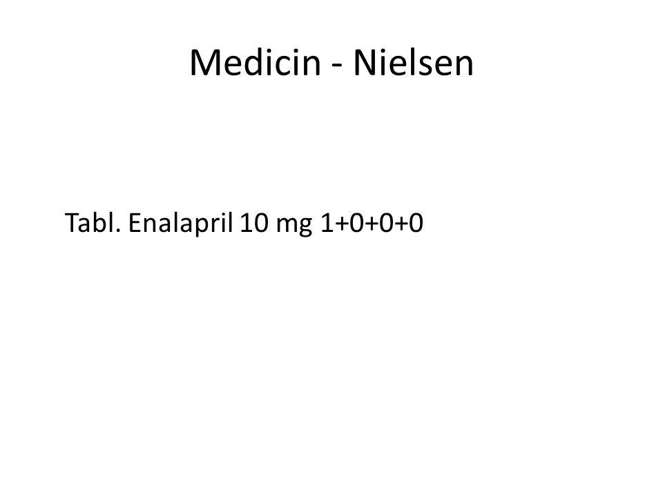 Medicin - Nielsen Tabl. Enalapril 10 mg 1+0+0+0