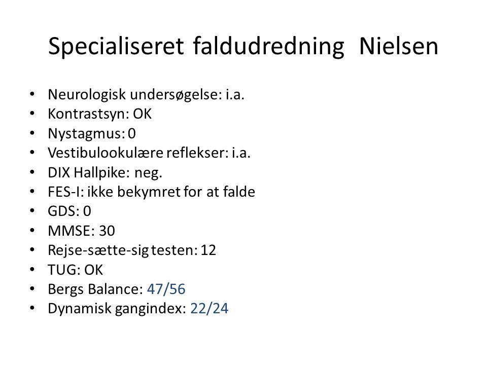 Specialiseret faldudredning Nielsen
