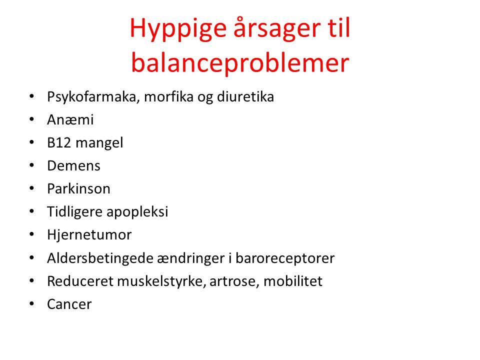 Hyppige årsager til balanceproblemer