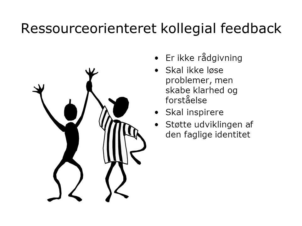 Ressourceorienteret kollegial feedback