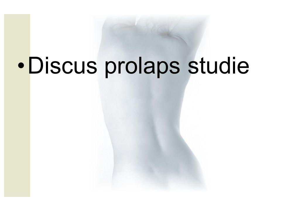 Discus prolaps studie