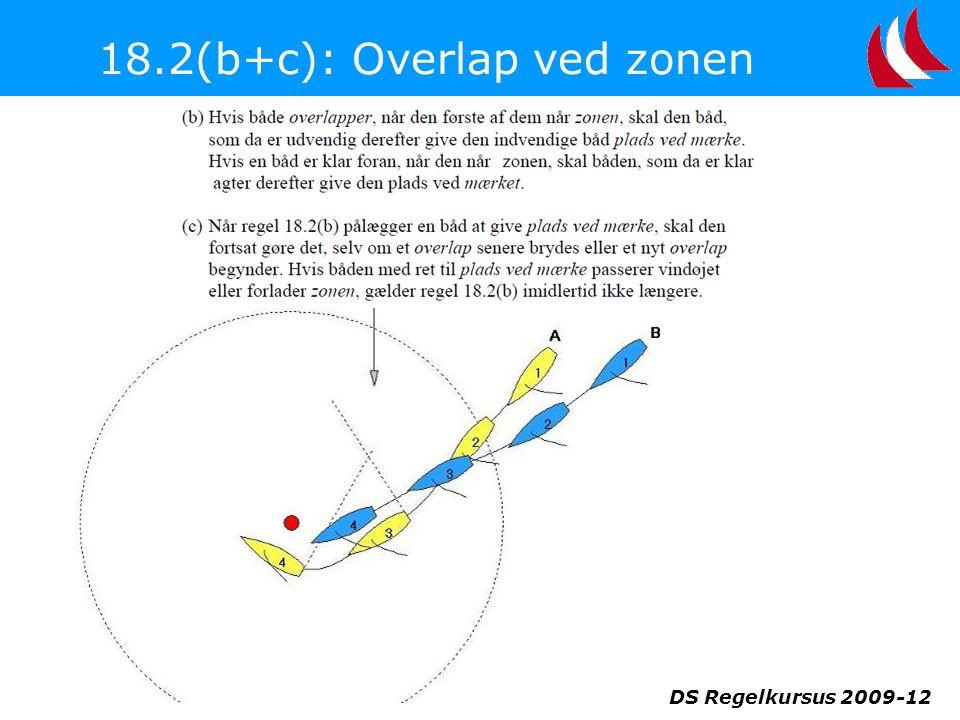 18.2(b+c): Overlap ved zonen