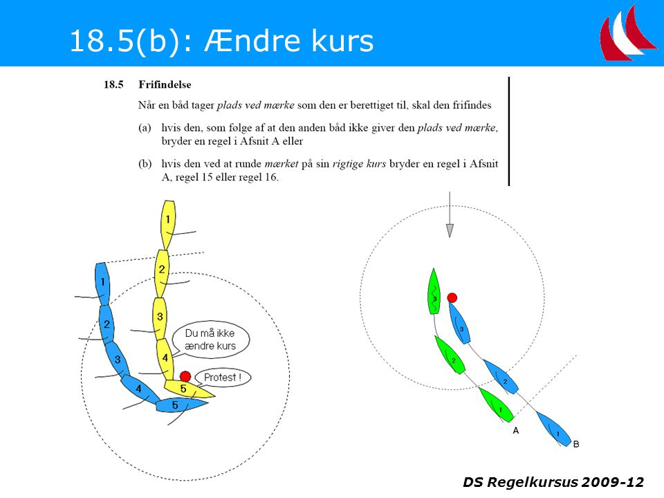 18.5(b): Ændre kurs DS Regelkursus 2009-12