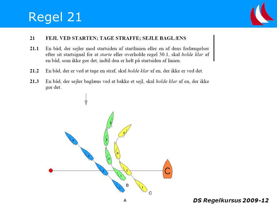 Regel 21 DS Regelkursus 2009-12