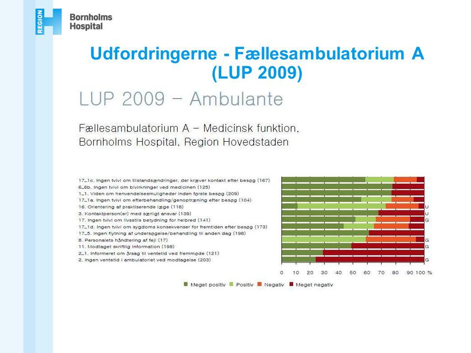 Udfordringerne - Fællesambulatorium A (LUP 2009)
