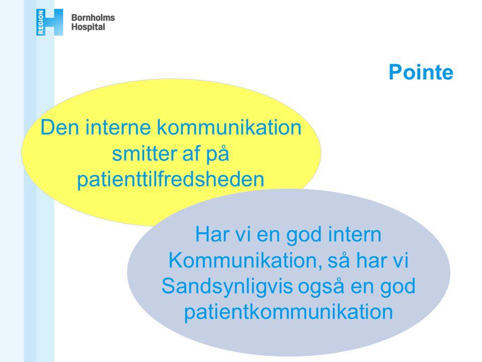 Den interne kommunikation smitter af på patienttilfredsheden