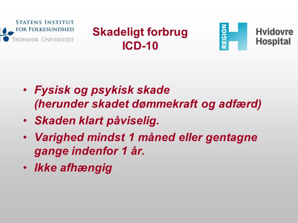 Skadeligt forbrug ICD-10