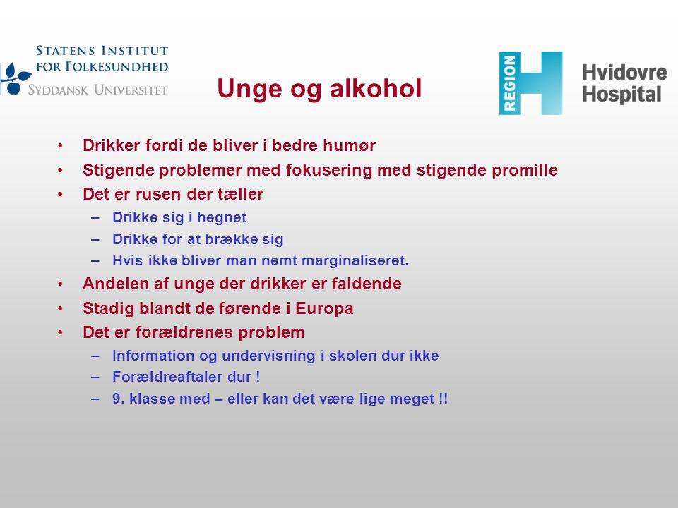 Unge og alkohol Drikker fordi de bliver i bedre humør