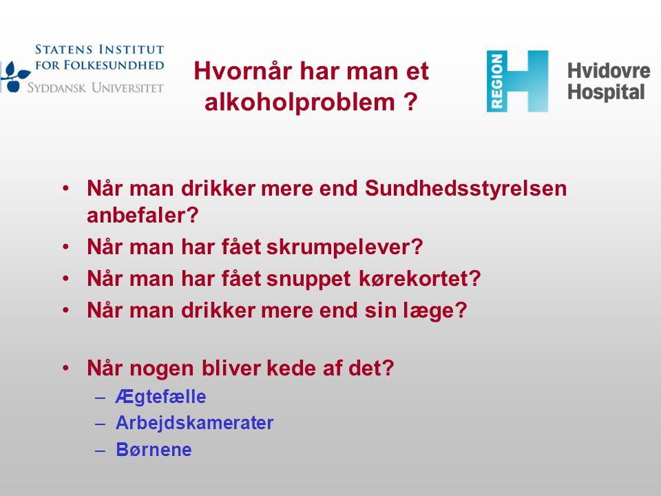 Hvornår har man et alkoholproblem