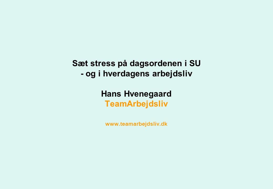 Sæt stress på dagsordenen i SU - og i hverdagens arbejdsliv