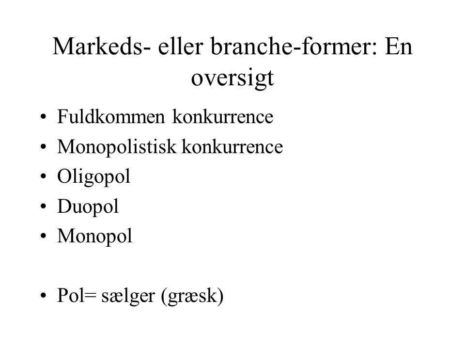 Markeds- eller branche-former: En oversigt
