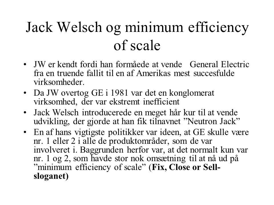 Jack Welsch og minimum efficiency of scale