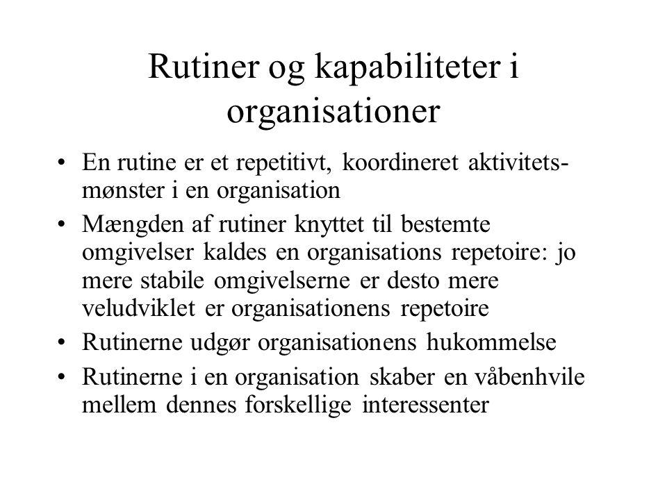 Rutiner og kapabiliteter i organisationer