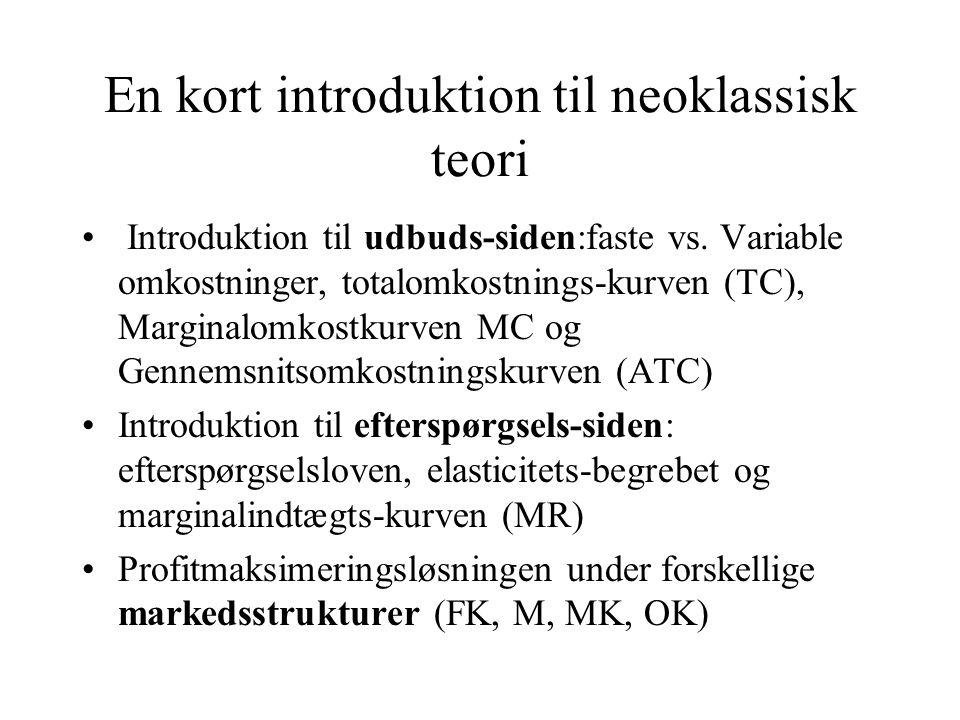 En kort introduktion til neoklassisk teori