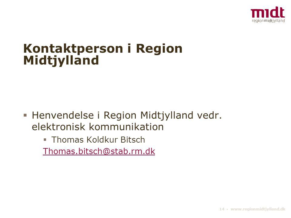 Kontaktperson i Region Midtjylland
