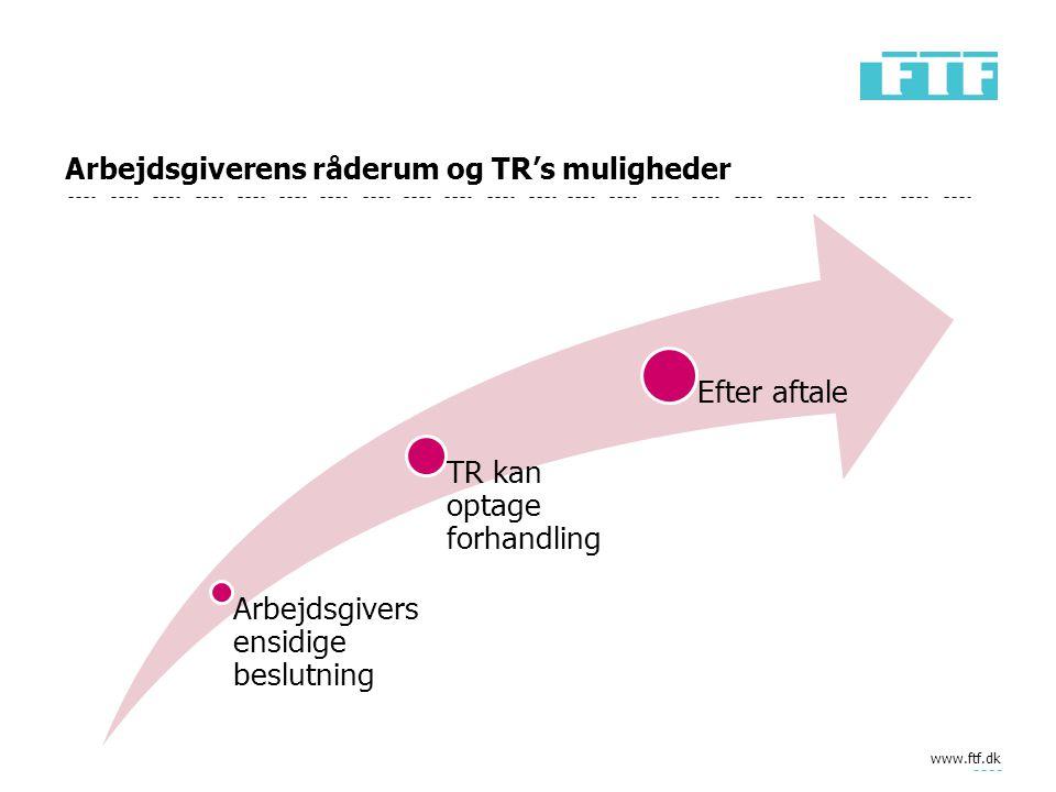 Arbejdsgiverens råderum og TR's muligheder