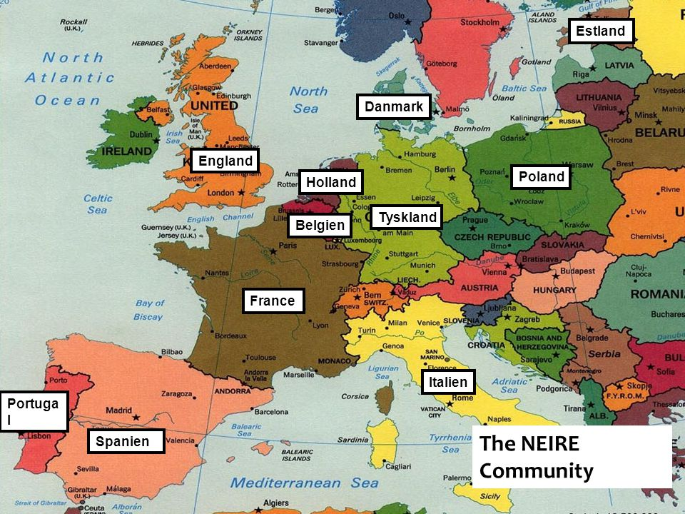 The NEIRE Community Estland Danmark England Poland Holland Tyskland