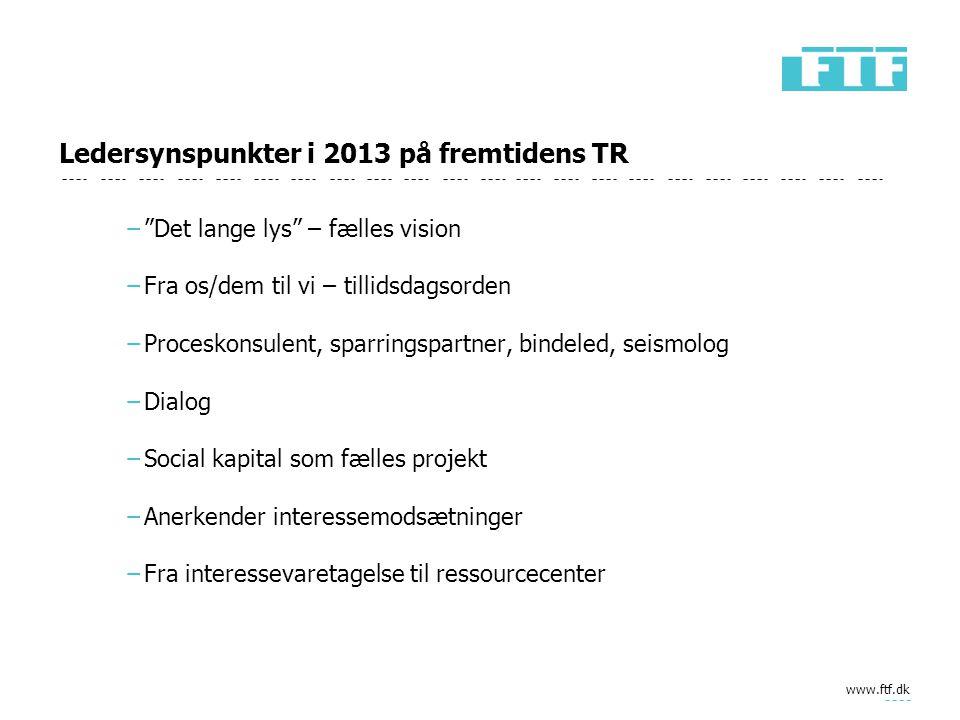 Ledersynspunkter i 2013 på fremtidens TR