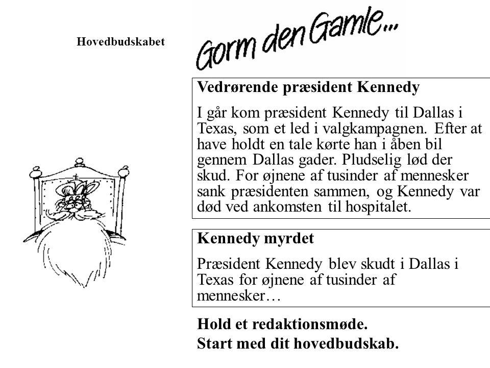 Vedrørende præsident Kennedy