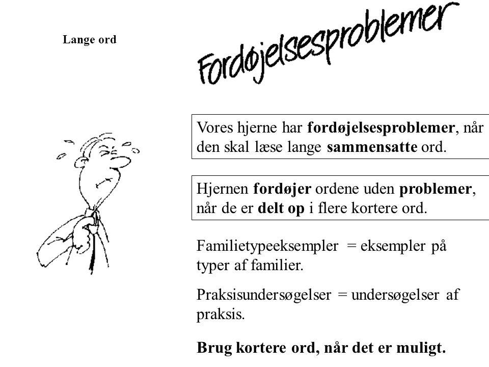 Familietypeeksempler = eksempler på typer af familier.