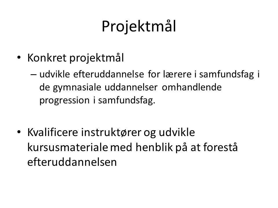 Projektmål Konkret projektmål