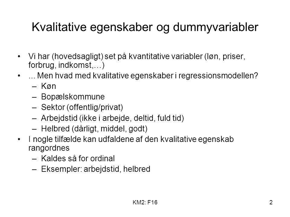 Kvalitative egenskaber og dummyvariabler