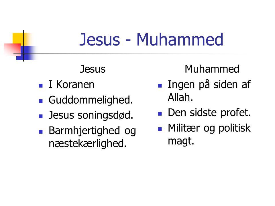Jesus - Muhammed Jesus I Koranen Guddommelighed. Jesus soningsdød.
