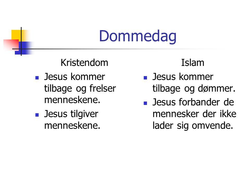 Dommedag Kristendom Jesus kommer tilbage og frelser menneskene.