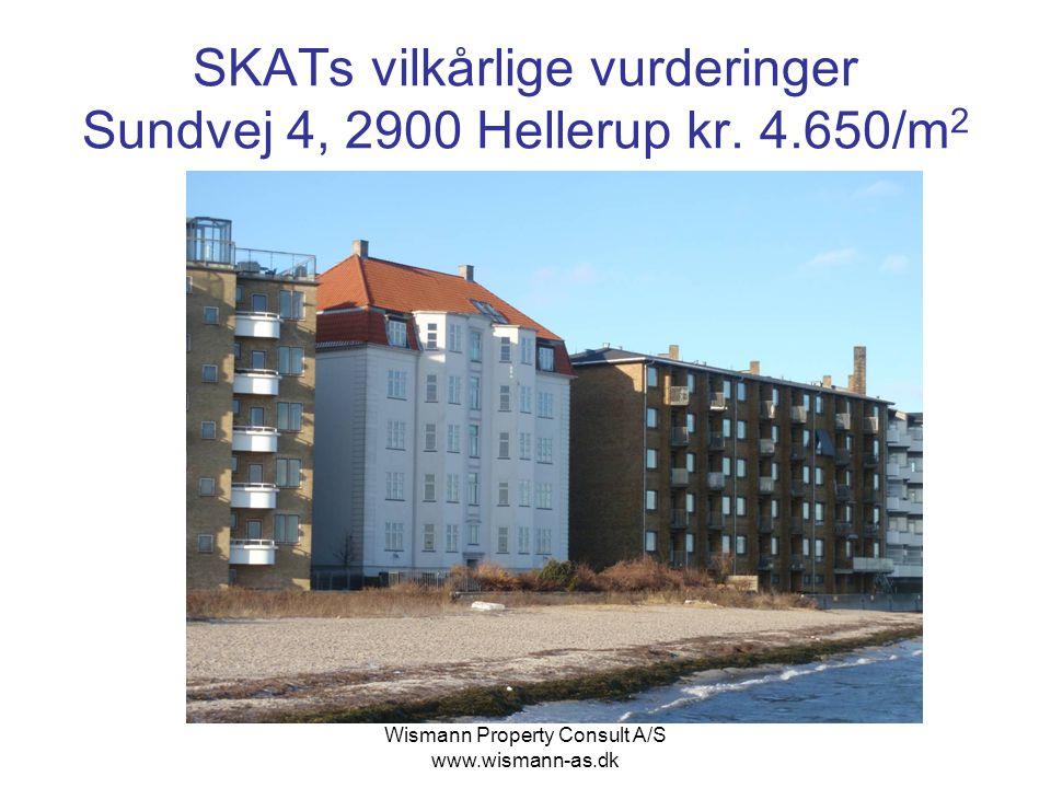 SKATs vilkårlige vurderinger Sundvej 4, 2900 Hellerup kr. 4.650/m2