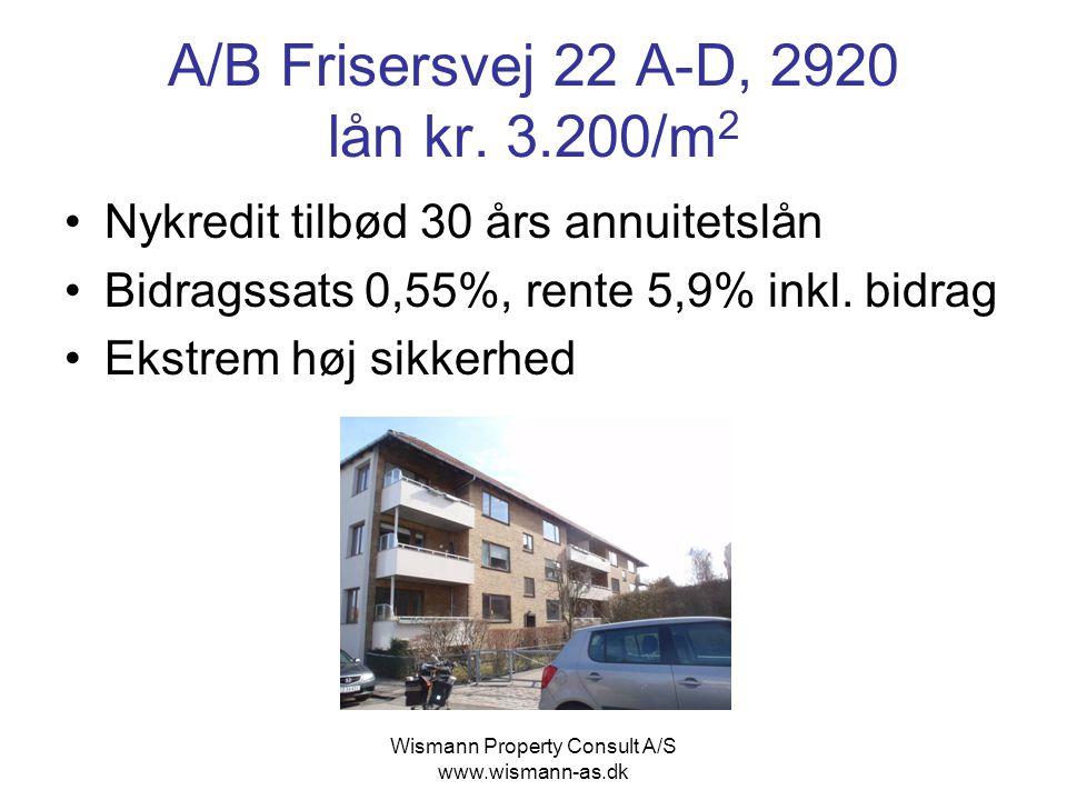 A/B Frisersvej 22 A-D, 2920 lån kr. 3.200/m2