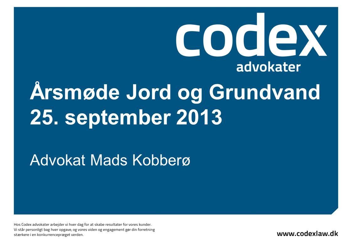 Årsmøde Jord og Grundvand 25. september 2013