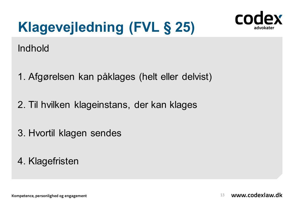 Klagevejledning (FVL § 25)