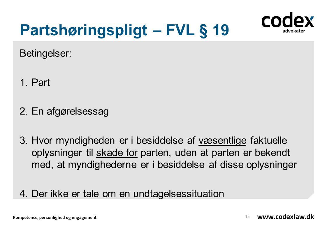 Partshøringspligt – FVL § 19